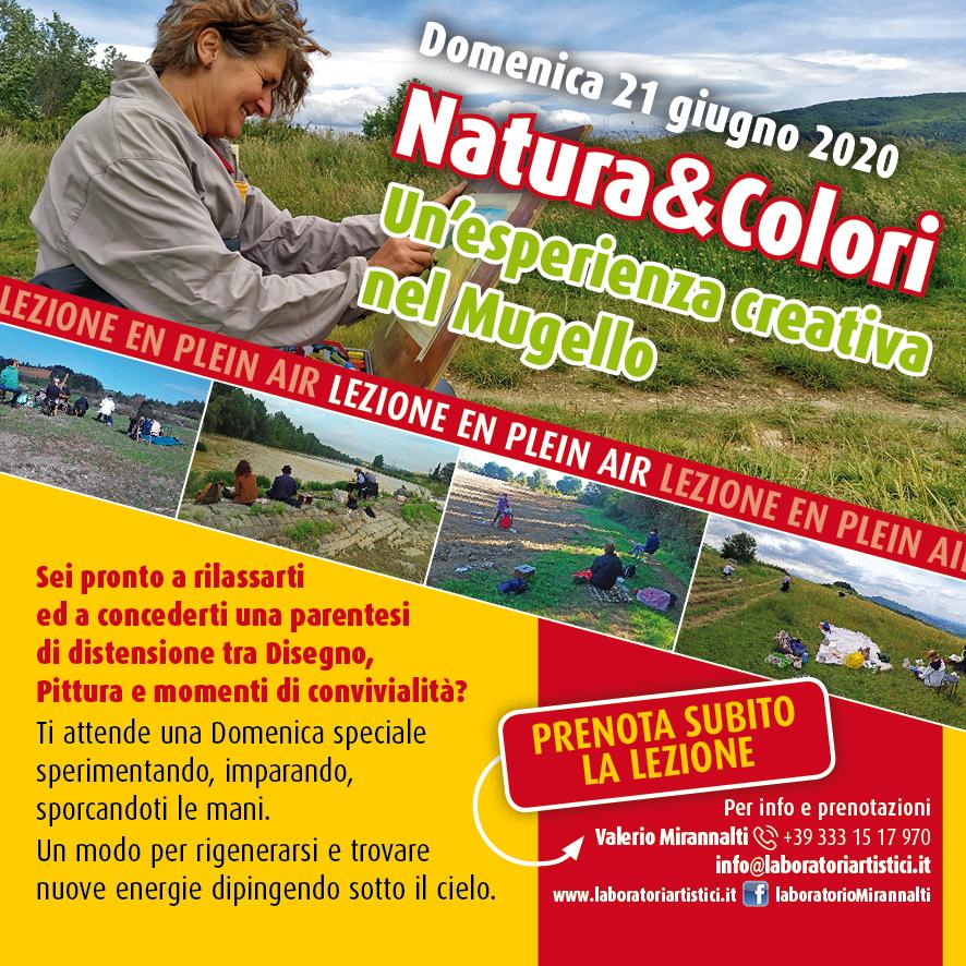 Domenica 21 giugno 2020 – Natura&Colori Un'esperienza creativa nel Mugello